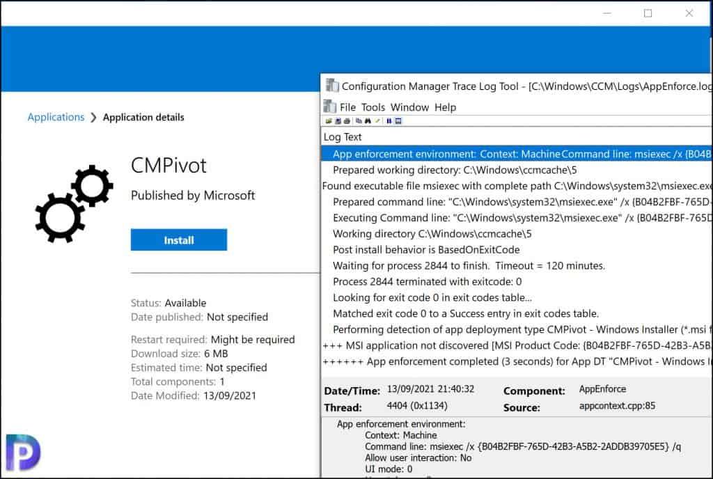 Uninstall CMPivot app from Software Center.