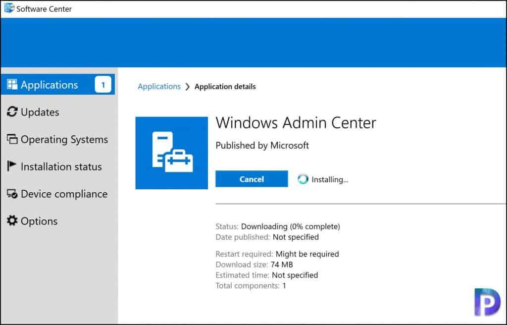 Deploy Windows Admin Center using SCCM