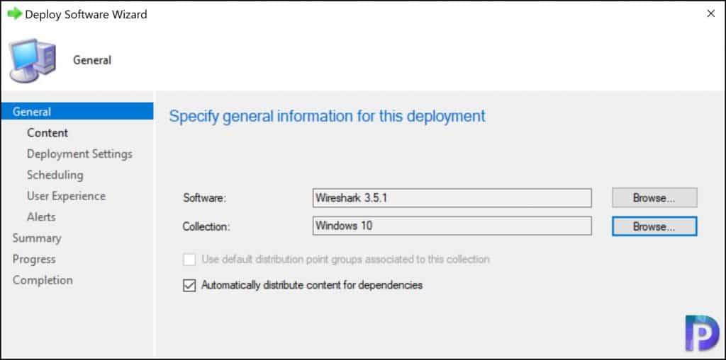 Deploy Wireshark using SCCM