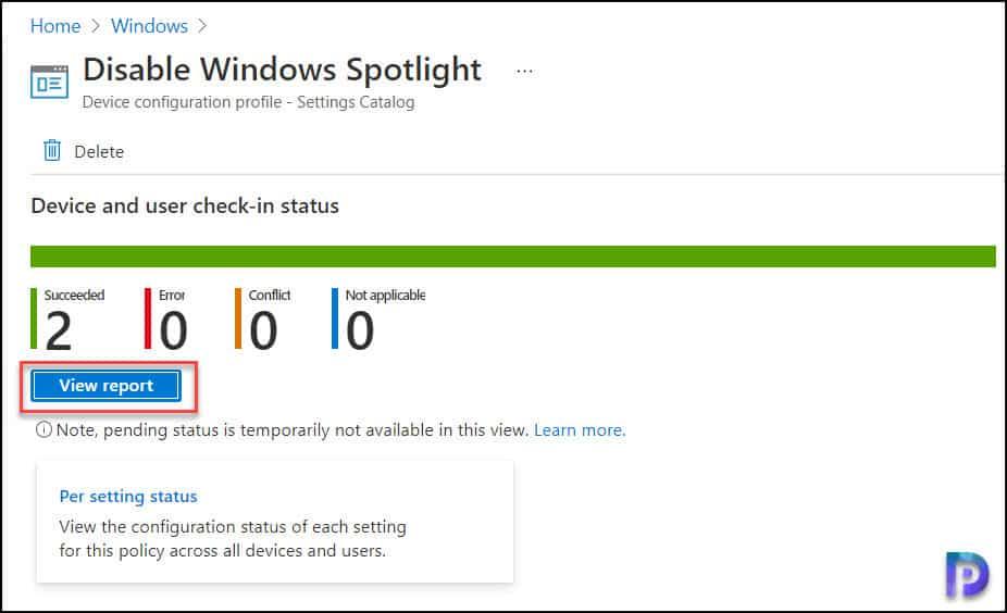 Disable Windows Spotlight Using Intune