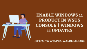 Enable Windows 11 in WSUS Console