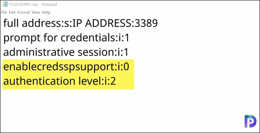 RDP VM using Azure AD Credentials Modify the Azure VM RDP File