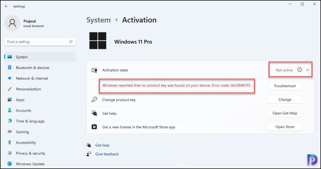 Check Activation Status of Windows 11