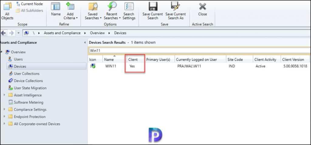 Confirm SCCM Client Agent Install