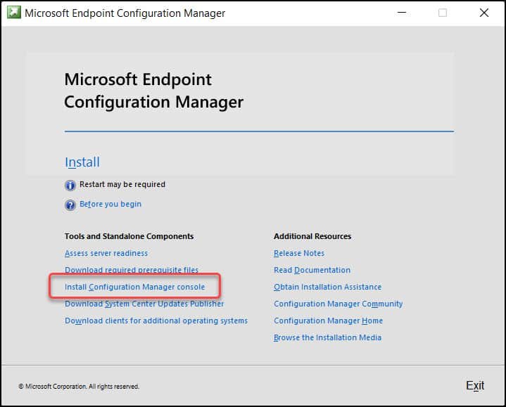 Install SCCM Console on Windows 11 Using Setup Wizard