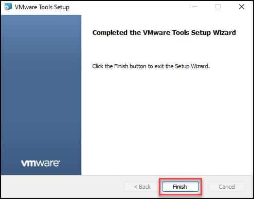 Install VMware Tools on Windows 11