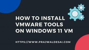 Install VMware Tools on Windows 11 VM