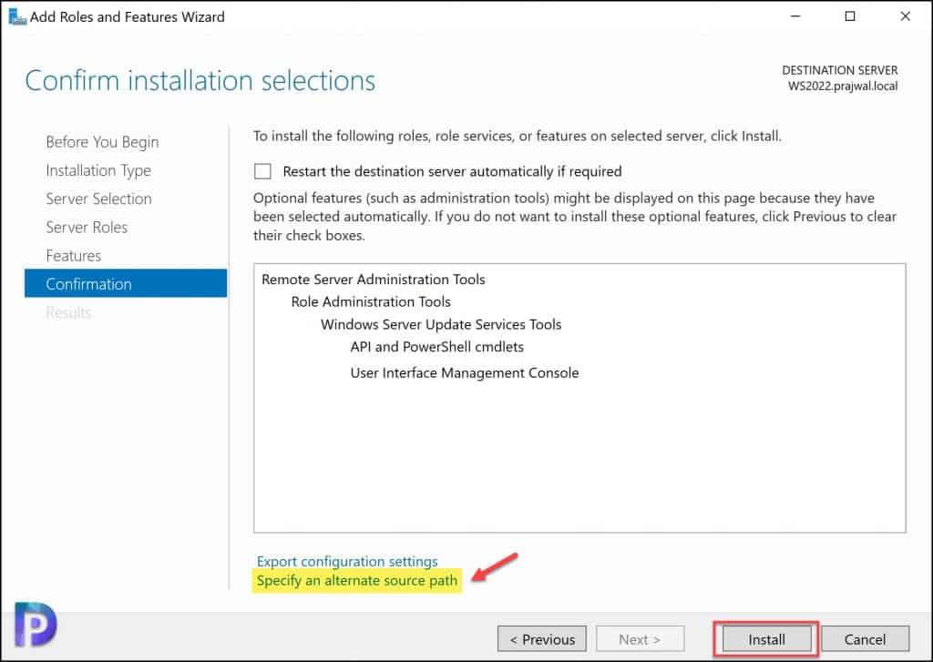 Install WSUS Console on Windows Server