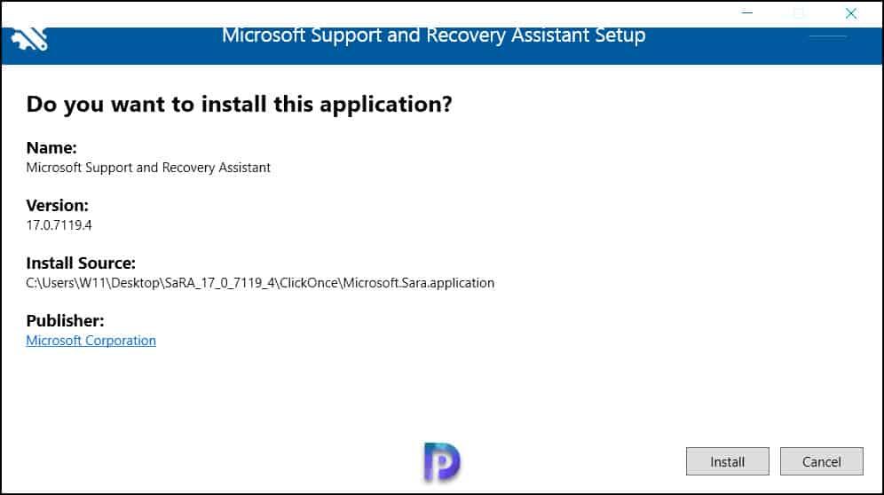 Install Microsoft SaRA on Windows Computer