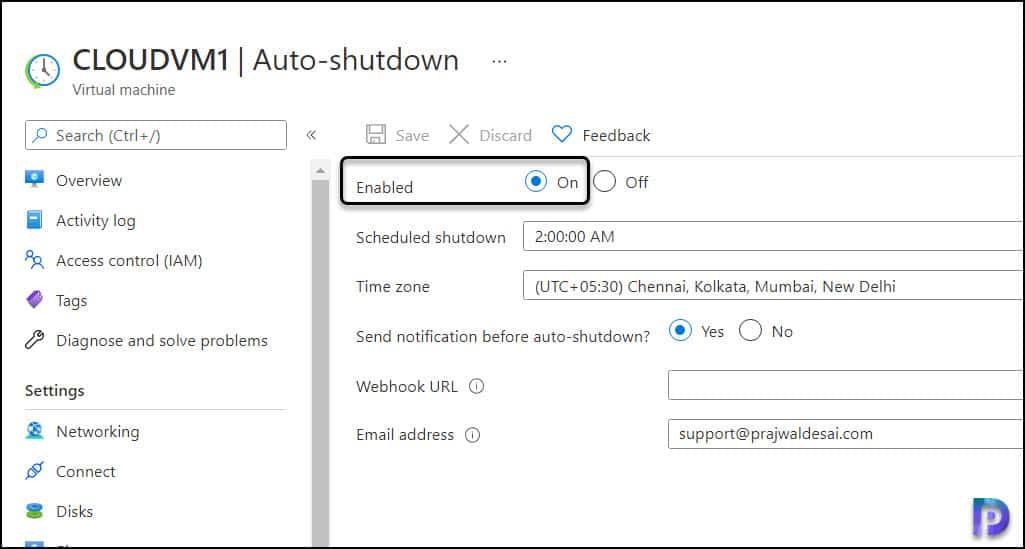 Steps to Turn Off Auto-Shutdown of Azure VM