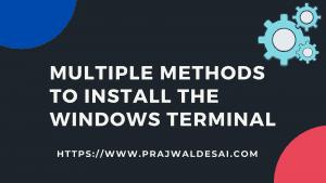 Best Ways to Install Windows Terminal