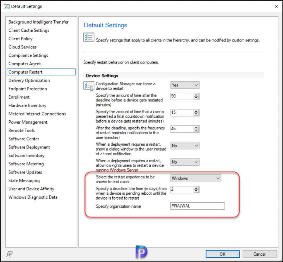 Branding Windows Update Native Reboot Experience