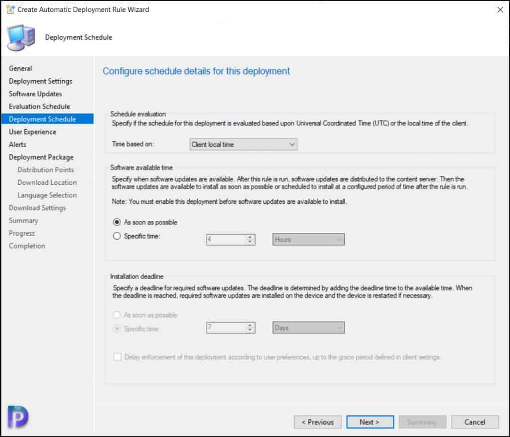 ConfigMgr Windows 11 Updates Deployment Schedule