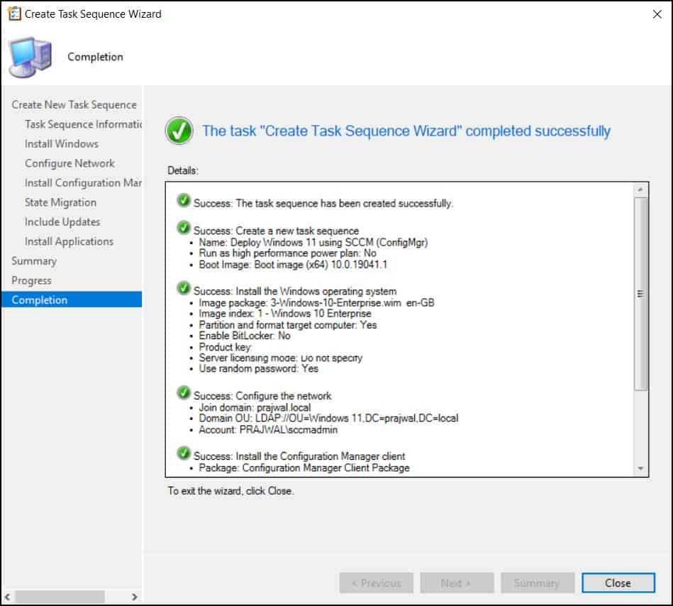 Create SCCM Task Sequence to Deploy Windows 11