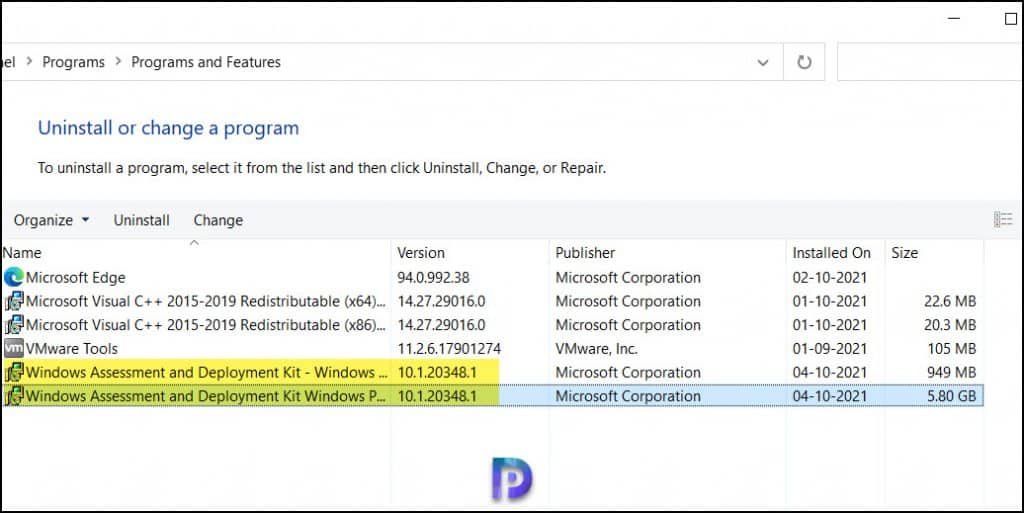 Windows Server 2022 ADK Version