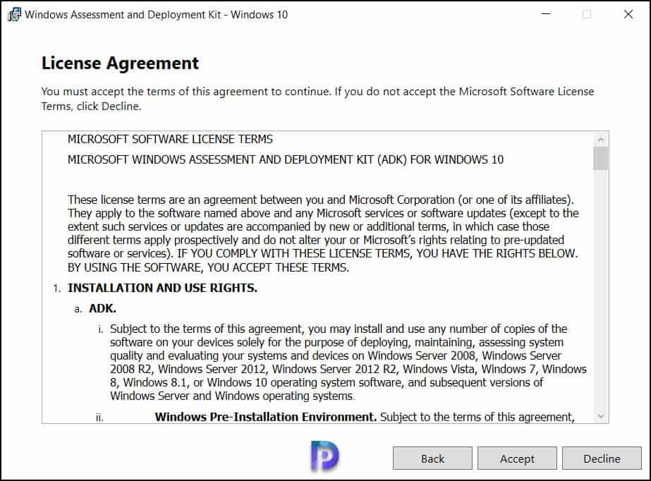 Windows Server 2022 ADK installation