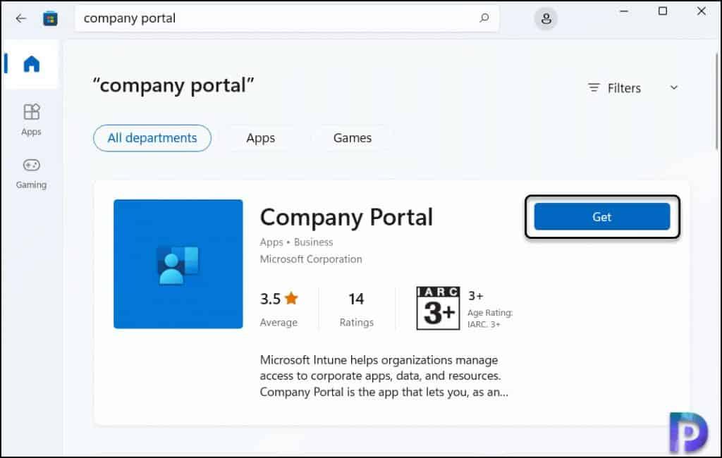 Download Company Portal App