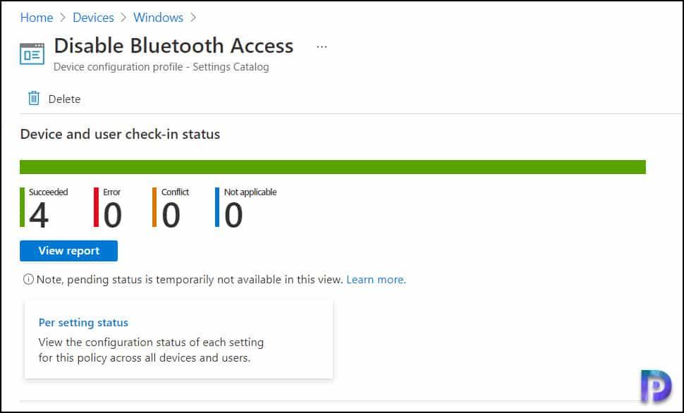 Monitor Device Profiles in Microsoft Intune