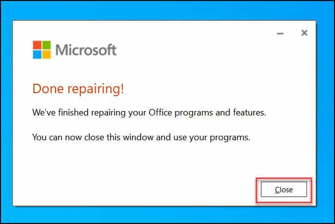 Repair Microsoft 365 Installation
