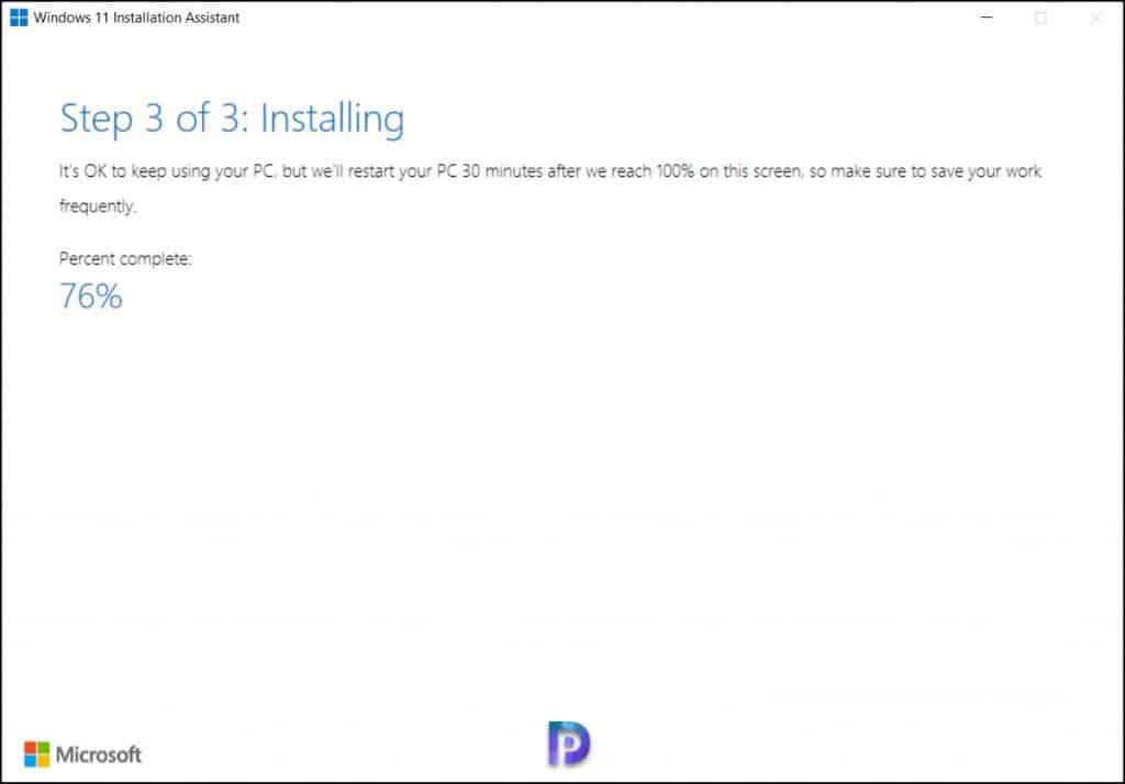 Installing Windows 11 Update