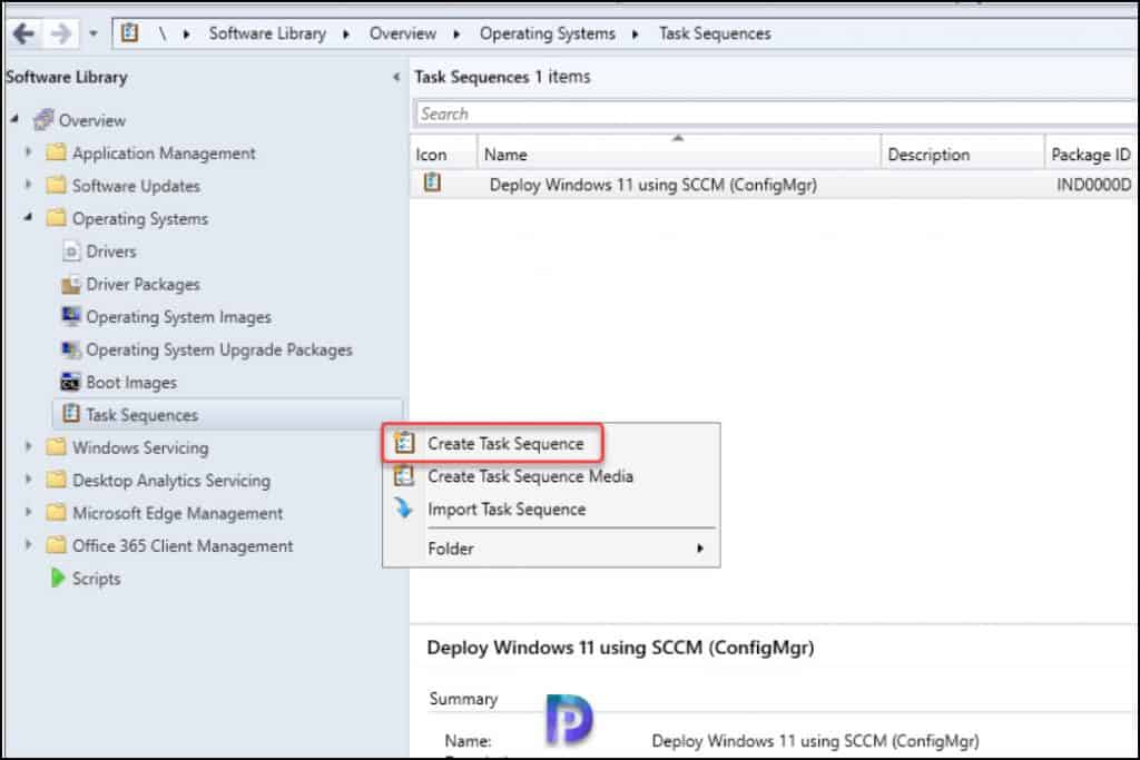 Create Windows 11 In-place upgrade SCCM Task Sequence