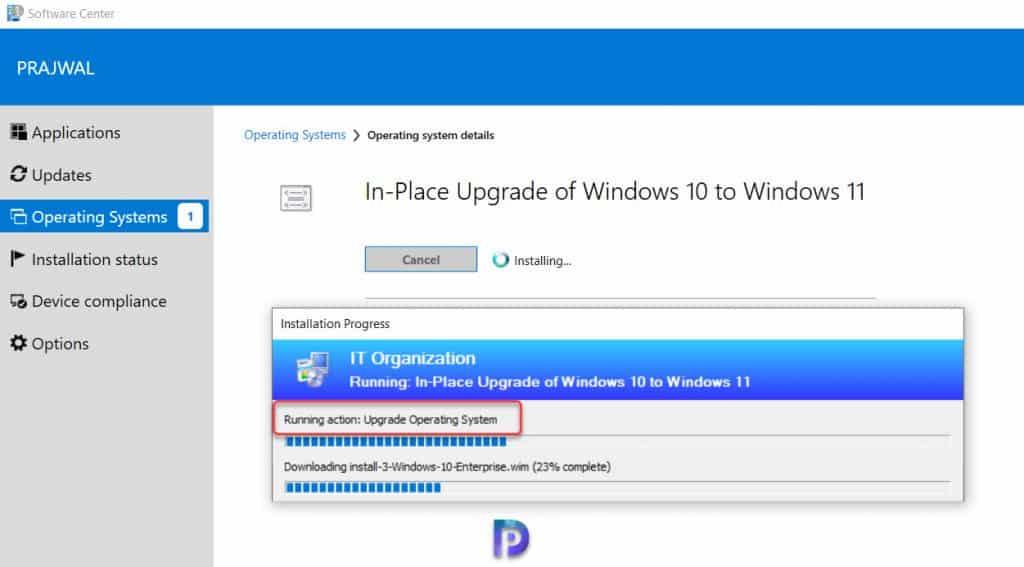 Upgrade Windows 10 to Windows 11 using Task Sequence