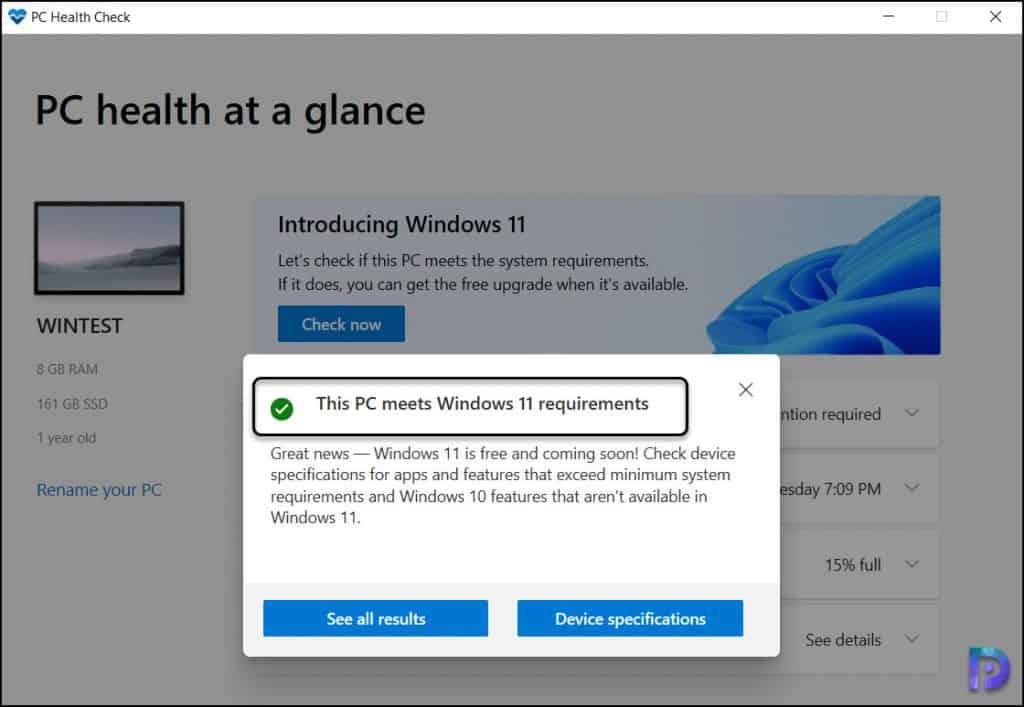 Install Windows 11 PC Health Check App