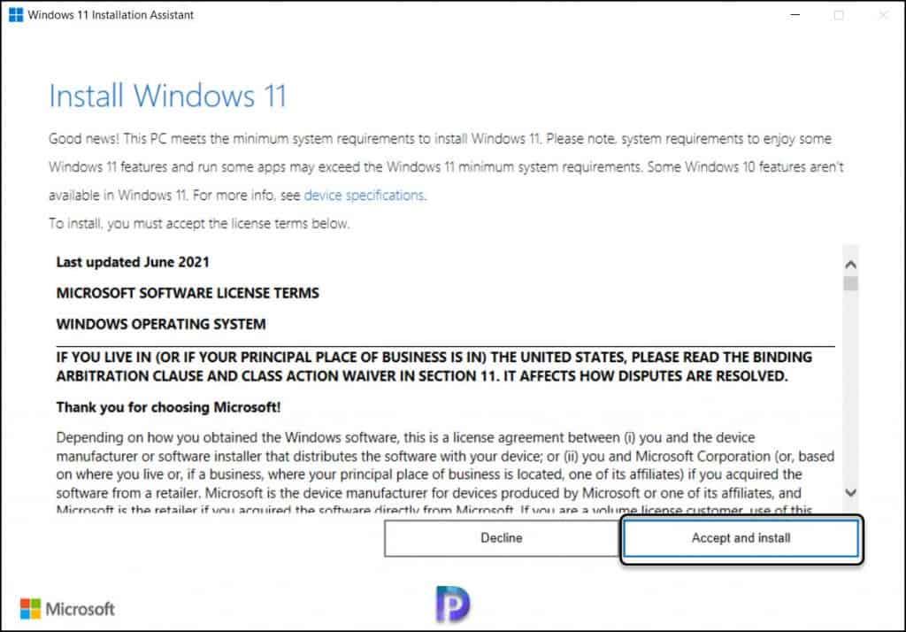 Upgrade to Windows 11 using Windows 11 Installation Assistant